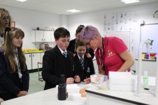 shirebrook checking eggs