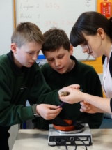 Meadowhead STEM club measuring chicks