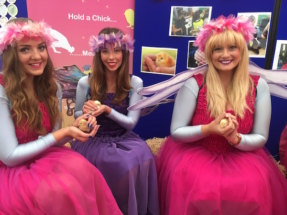 Fairies holding Eggucation Chicks at Great Yorkshire Show